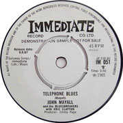 I'm Your Witchdoctor/Telephone Blues Immediate IM 051 (diff. Credits) 1967 side B