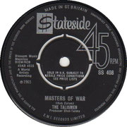 the-talismen-uk-masters-of-war-stateside SS 408 1965