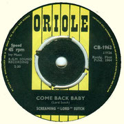 'Dracula's Daughter'/'Come Back Baby' Oriole CB 1962 1964