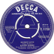 kathy-kirby-secret-love-1963-Decca F  11759