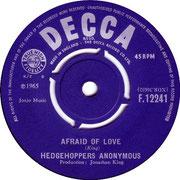 It's Good News Week/Afraid of Love Decca F 12241 1965 B side