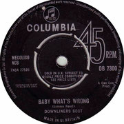 Baby What's Wrong/Be a Sect Maniac Columbia DB 7300 1964
