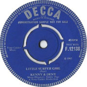 Try to Forget Me/Little Surfer Girl Decca F 12139 1965 side B