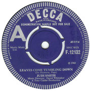'Leaves Come Tumbling Down'/'Come My Way' Decca F 12132 1965 side A