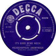 It's Good News Week/Afraid of Love Decca F 12241 1965 A side