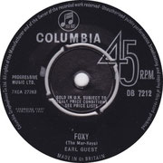 Begin The Beguine/Foxy Columbia DB 7212  1964