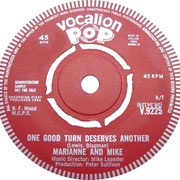 You're The Only One/One Good Turn Deserves Another Vocalion V 9225