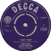 'I Want Candy'/'Love Me Baby' Brian Poole and the Tremeloes Decca F 12197 1965