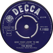 Everything's Al'right Decca/Give Your Lovin To Me F 11853 1964 side B