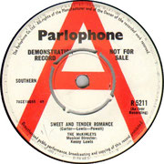 'Sweet and Tender Romance'/'That Lonely Feeling' Parlophone R 5211 1964 side A