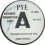 I've Been Watching You/Sugar Baby Pye 7N 15735 1966 side A