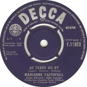 As Tears Go By/Greensleeves Decca F 11923 1964