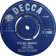 It's Not Unusual/To Wait for Love (Is to Waste Your Life Away Decca F 12062 1965 side A