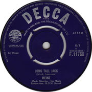 Country Boy/Long Tall Jack Decca F 11768 1963 B side