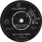 'Bald Headed Woman'/'I Just Can't Get to Sleep' Columbia DB 7385 1964 side B