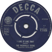 'Tobacco Road'/'I Like It Like That' Decca F 11930 1964 side B