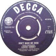 Don't Make Me Over/Two Lovers - Decca F 11875 1964 side A