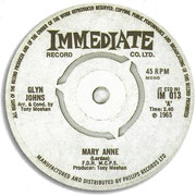 Mary Anne/Like Grains of Yellow Sands Immediate IM 013 1965