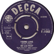 Young Love/The Rise Of The Brighton Surf Decca F 11968 1964