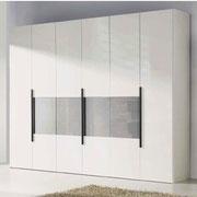 closet modular moderno con puertas enchapadas
