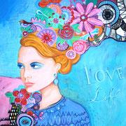 """LOVE LIFE"" - 100 cm x 81 cm"