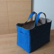 『recta bag』 blue/grey-beige 持ち手通常(ひじ掛)仕様