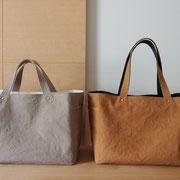 『recta bag』 持ち手通常(ひじ掛)仕様と肩掛仕様