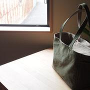 『recta bag』 olive/grey-beige 持ち手肩掛け仕様