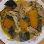 手羽とかぼちゃの煮物
