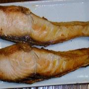 焼き鮭  夜
