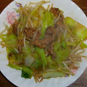 l肉野菜炒め  夜