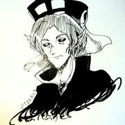 兜坂ランさんの『大魔王峠』より、アスモデウス。悪魔なのに聖職者の格好という容姿に一目惚れした。