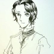 泰子さんの小説『ゴーシュさんが劇に出演した話』より、シューシューのイメージ。全体の様子は中性的だけど、髪型は男性寄りのイメージ。