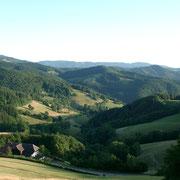Schwarzwaldlandschaft, ab dem Schauinsland auf einem Wanderweg fotografiert.