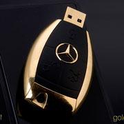 Mercedes-Benz Schlüssel (USB-Stick) 24 Karat vergoldet