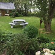 Gartenbank ohne Rückenlehne, unser Klassiker, mal anders...