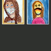 Selbstportrait mit MN-Maske