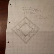 2. Umsetzung und Zeichnung auf Papier