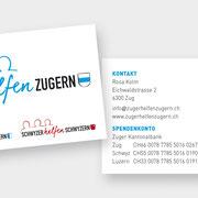 Layout und Gestaltung ZHZ Visitenkarte  I  2018