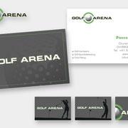 Layout & Design – Visitenkarten Golf Arena  I  2020