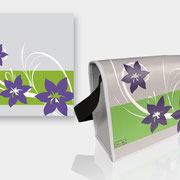 Design meiner Blachentasche! Genäht von www.ka-ho.ch