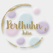 Logodesign für Julia Anzinger, Perlhuhn (2017)