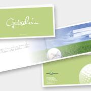 Layout & Design Golfarena – Gutschein  I  2019