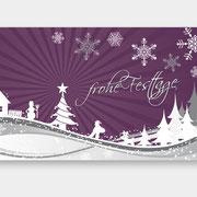 Gestaltung der Weihnachtskarte MY Tönung (Vorderseite)