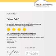 4-Sterne Urkunde des DTV