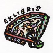 【EXLIBRIS】2015 <九谷 鳥文扇面鉢>