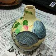 琳派絵師の鈴木其一の絵を元にデザインした講師作品
