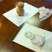 Hさんの鉛筆で描いたひょうたん