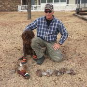 Gus and friend Gary after a Kansas hunt