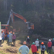 林業機械の実演もありました。